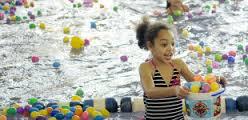 eggs girl pool